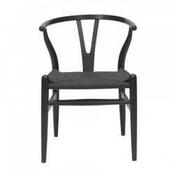 Silla estilo Wegner Y Chair CH24 black